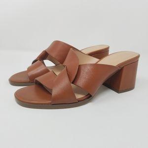 Messeca New York Thunder Brown Block Heels, 7.5